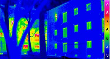 Thermographie d'une maison passive