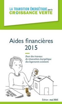 Aides financières 2015 pour des travaux de rénovation énergétique