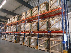 Espace de stockage et logistique d'ÖkoFEN France