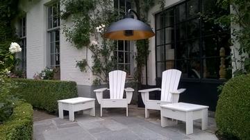 Clairage chauffant dome pour jardins et terrasses for Eclairage exterieur sur pied