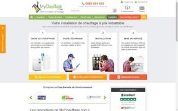 MyChauffage : vente et installation de chauffage par Internet