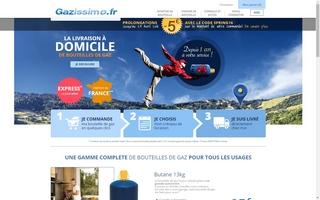 1 an que Gazissimo livre à domicile des bouteilles de gaz