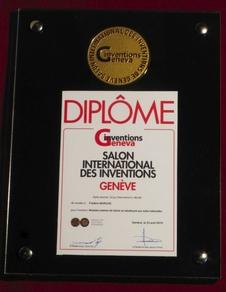 L'innovation a reçu la médaille d'or du salon international des Inventions de Genève