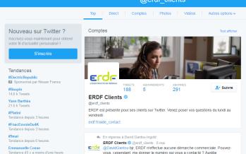 Création du Twitter ERDF Service clients