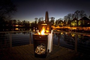 Le Gooker, four d'extérieur au feu de bois