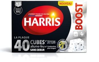 Cubes allume-feu, crème nettoyante et bûche de ramonage Harris