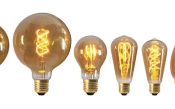 Ampoules à filament LED torsadé Twisted et Loops