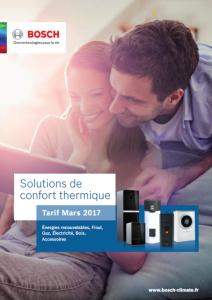 Catalogue 2017 des chaudières Bosch