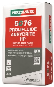 Plancher chauffant : Mortier-colle 5076 Prolifluide Anhydrite H
