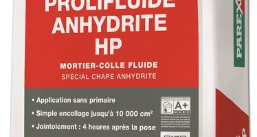 Plancher chauffant : Mortier-colle 5076 Prolifluide Anhydrite HP
