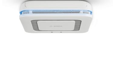 Détecteur de fumée connecté Twinguard mesurant la qualité d'air