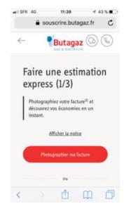 Changer de fournisseur d'énergie en prenant une photo avec Butagaz