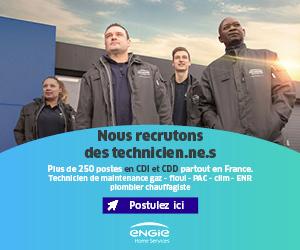 Offre d'emploi : Engie recrute des techniciens, plombiers et chauffagistes